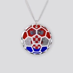 Croatia World Cup 2014 Necklace Circle Charm