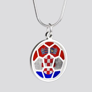 Croatia World Cup 2014 Silver Round Necklace