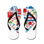 Croatia World Cup 2014 Heart Flip Flops