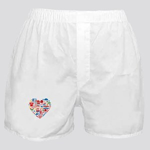 Croatia World Cup 2014 Heart Boxer Shorts