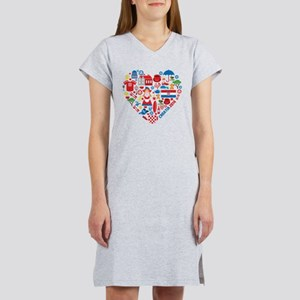 Croatia World Cup 2014 Heart Women's Nightshirt