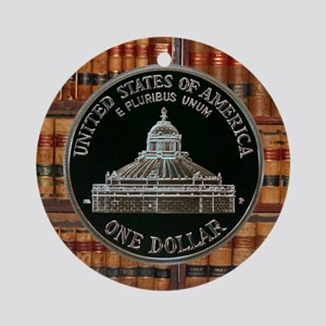 Library of Congress Dollar Ornament (Round)