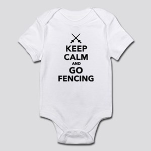 Keep calm and go Fencing Infant Bodysuit
