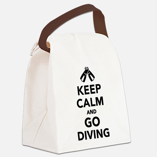 Keep calm and go Diving Canvas Lunch Bag
