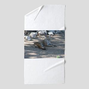 Bobcat Beach Towel