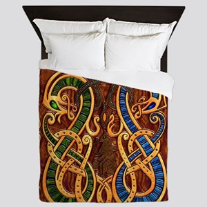 Harvest Moons Viking Dragons Queen Duvet