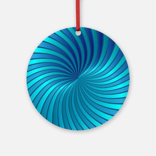 Spiral Vortex 1 Ornament (Round)