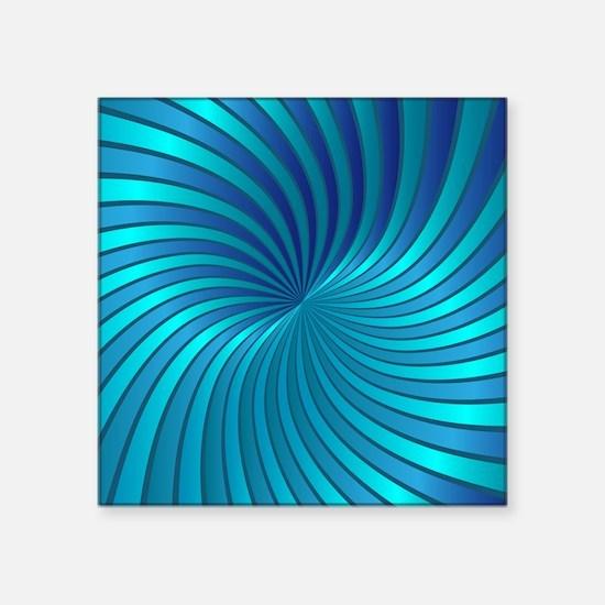 """Spiral Vortex 1 Square Sticker 3"""" x 3"""""""