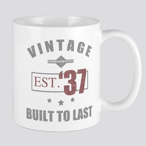 Vintage 1937 Birth Year Mugs
