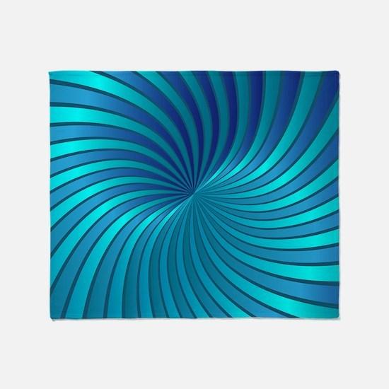 Spiral Vortex 1 Throw Blanket
