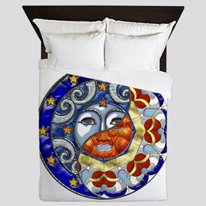 Harvest Moons Sun and Moon Yin Yang Queen Duvet