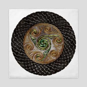 Harvest Moons Celtic Spirals Queen Duvet