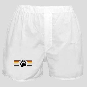 Gay Bear Pride Stripes Bear Paw Boxer Shorts