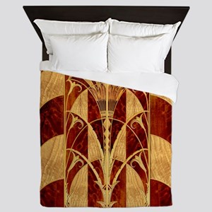 Harvest Moons Art Deco Panel Queen Duvet