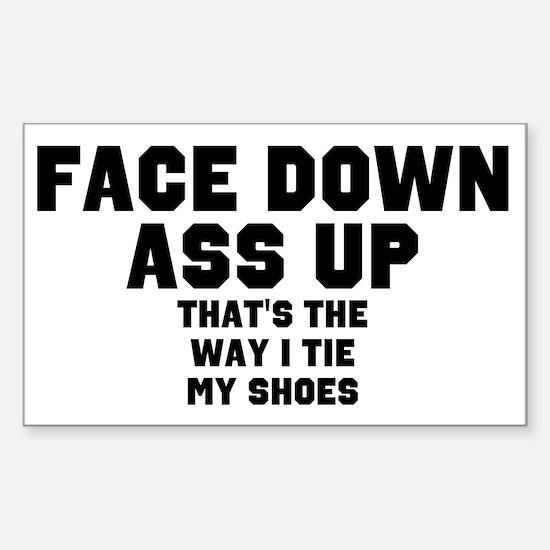Face Down Ass Up Sticker (Rectangle)