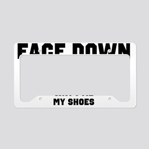Face Down Ass Up License Plate Holder