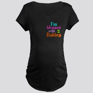 Personalizable, I'm blessed Maternity Dark T-Shirt