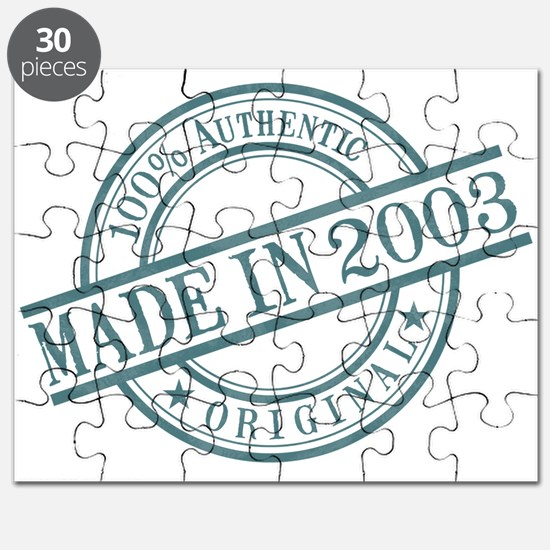 Made in 2003 Puzzle