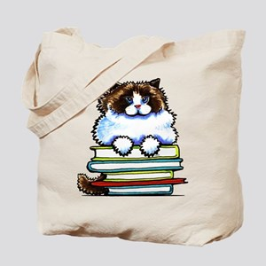 Ragdoll Cat Books Tote Bag