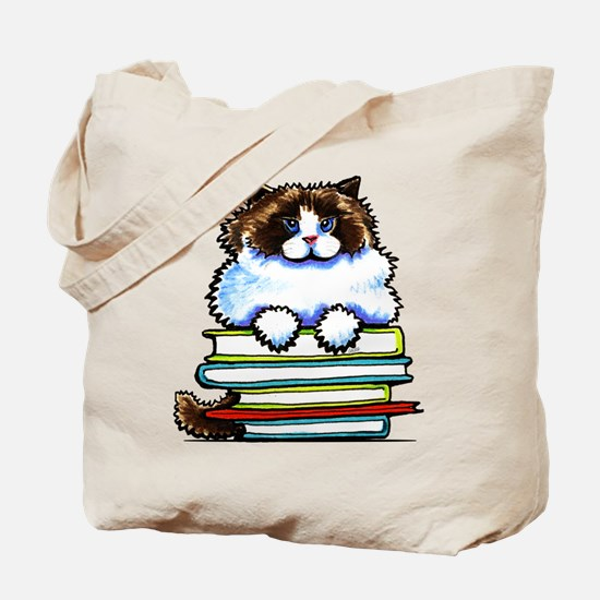Ragdoll Cat Books Tote Bag