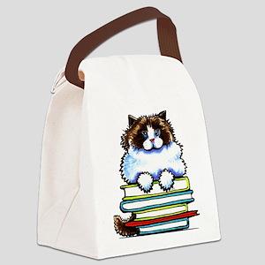 Ragdoll Cat Books Canvas Lunch Bag