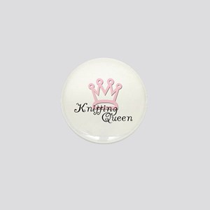 Knitting Queen Mini Button