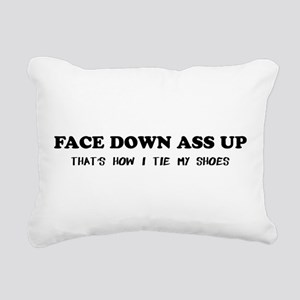 face down ass up Rectangular Canvas Pillow