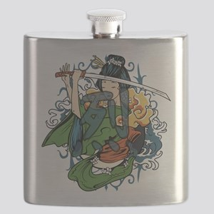 fierce warrior Flask