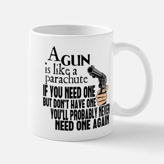 A Gun Is Like a Parachute Mug