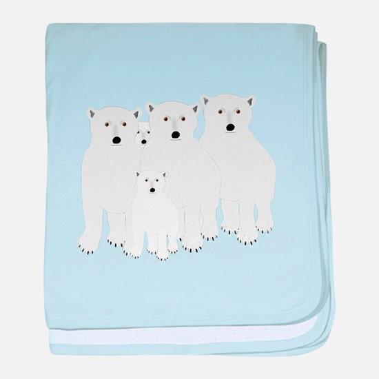 Polar Bears baby blanket