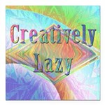 Creatively Lazy Square Car Magnet 3