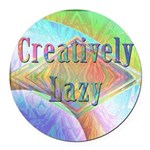 Creatively Lazy Round Car Magnet