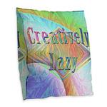 Creatively Lazy Burlap Throw Pillow