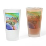 Creatively Lazy Drinking Glass