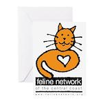 Feline Network Logo - Greeting Cards (Package of