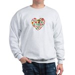 Mexico World Cup 2014 Heart Sweatshirt