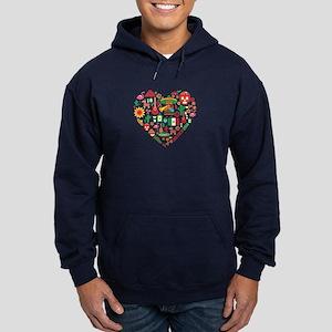 Mexico World Cup 2014 Heart Hoodie (dark)