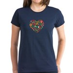 Mexico World Cup 2014 Heart Women's Dark T-Shirt