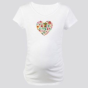 Mexico World Cup 2014 Heart Maternity T-Shirt
