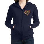 Mexico World Cup 2014 Heart Women's Zip Hoodie