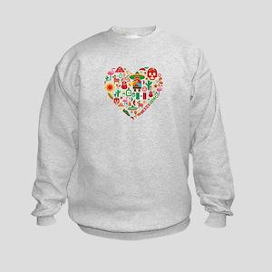 Mexico World Cup 2014 Heart Kids Sweatshirt