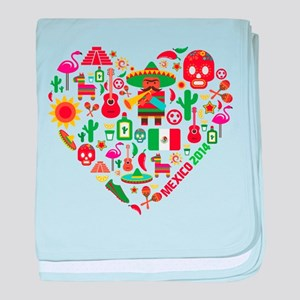 Mexico World Cup 2014 Heart baby blanket