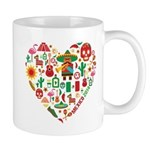 Mexico World Cup 2014 Heart Mug