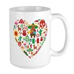 Mexico World Cup 2014 Heart Large Mug