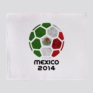 Mexico World Cup 2014 Throw Blanket