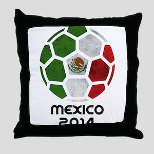 Mexico World Cup 2014 Throw Pillow