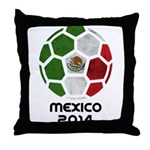 Mexico World Cup 2014 Throw Pillow