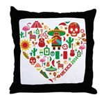 Mexico World Cup 2014 Heart Throw Pillow