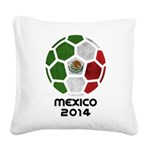 Mexico World Cup 2014 Square Canvas Pillow