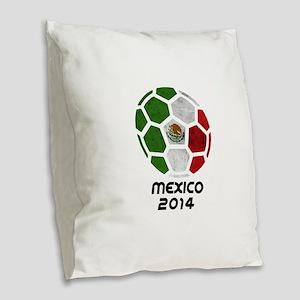 Mexico World Cup 2014 Burlap Throw Pillow